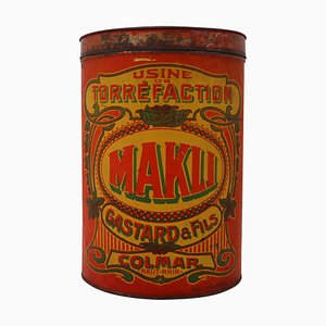 Antique French Makli Colmar Coffee Storage Box