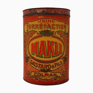 Antique French Makli Colmar Coffee Storage Box