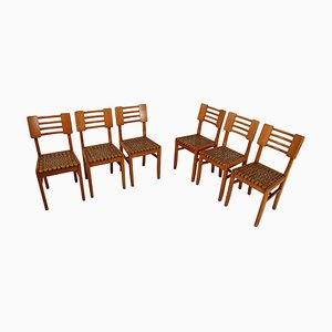 French Dining Chair, 1950s, Set of 6