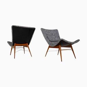 Fiberglass Lounge Chair by Miroslav Navratil for Cesky Nabytek, 1959