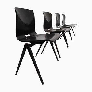 Dutch Industrial S22 Galvanitas Plywood Chairs from Galvanitas, 1960s, Set of 30