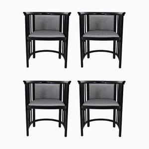 Vienna Secession Armchairs in Bentwood by Josef Hoffmann, 1930s, Set of 4