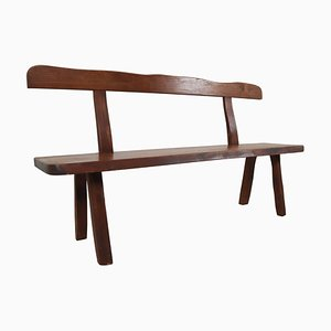 Robust Sculptural Bench by Olavi Hanninen for Mikko Nupponen, 1950s