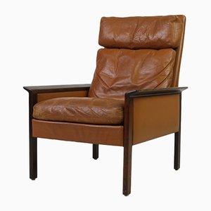 Mid-Century Armlehnstuhl aus Palisander & Leder von Hans Olsen für CS Mobelfabrik