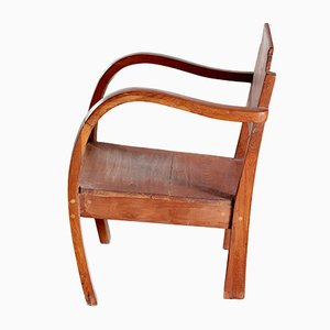 Small Vintage Wooden Armchair, 1950s