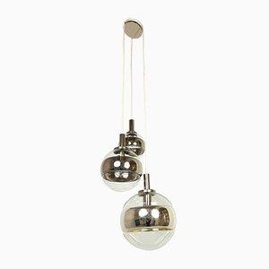 Glass 3-Light Ceiling Lamp from Peill & Putzler, 1970s