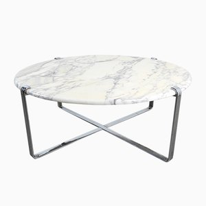 German Marble & Chrome Coffee Table, 1960s