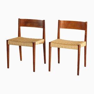Chaises d'Appoint Pia en Teck par Poul Cadovius pour Cado, 1960s, Set de 2
