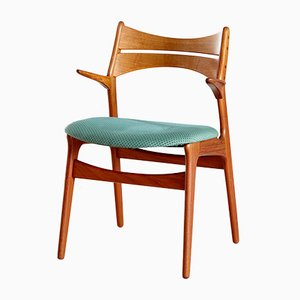 Teak Modell 310 Armlehnstuhl von Erik Buch für Chr. Christiansen, 1960er