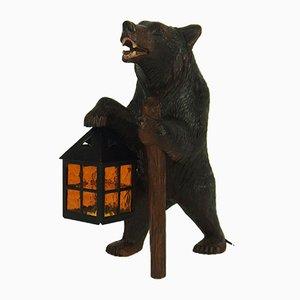 Vintage Black Forest Bear Night Lamp