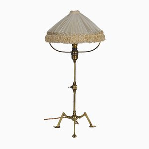 Vintage Arts & Crafts Brass Table Lamp by Was Benson