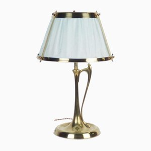 Vintage Arts & Crafts Bronze & Brass Table Lamp