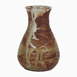 Vintage Steingut Vase von Pierre Lion