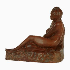 Vintage Terracotta Sculpture by Marcel Bouraine