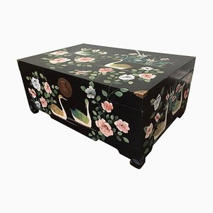 Mid-Century Chinoiserie Trunk, 1980s