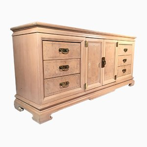 Light Burl Wood Chinoiserie Dresser, 1980s