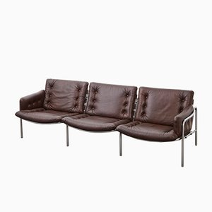 Mid-Century Leather Model BZ12 Osaka Sofa by Martin Visser for t Spectrum, 1960s