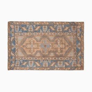 Blauer Vintage Oushak Teppich, 1970er