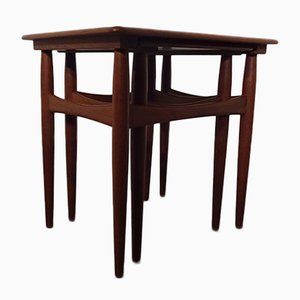 Danish Teak Nesting Tables, 1960s, Set of 2