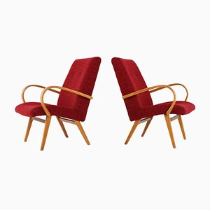 Bentwood Lounge Chairs, 1950s, Set of 2
