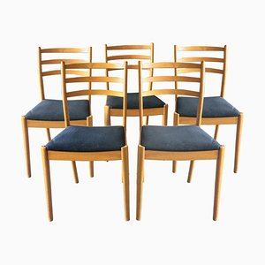 Swedish Teak Dining Chairs, 1960s, Set of 5