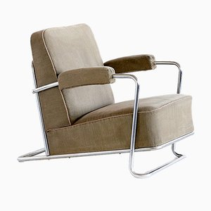 B251 Lounge Chair by René Coquery for Thonet, 1930s