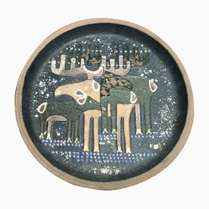 Swedish Decorative Plate by Thomas Hellstr