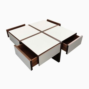 Italian Coffee Table by Bernard Vuarnesson for Belato, 1970s