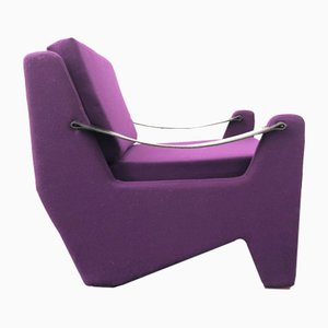 Italian Purple Lounge Chair, 1960s