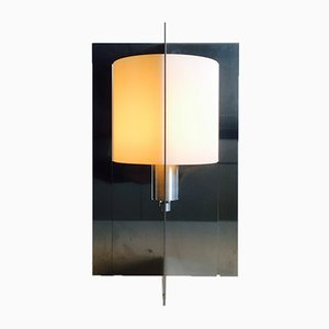 Italian Metal & Glass Table Lamp, 1960s