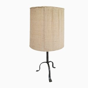 Mid-Century French Brutalist Style Table Lamp