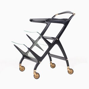 Black Lacquered Serving Trolley by Ico Luisa Parisi, 1959
