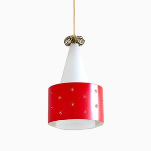Finnish Red Model K2-10 Pendant Lamp by Paavo Tynell for Idman, 1950s