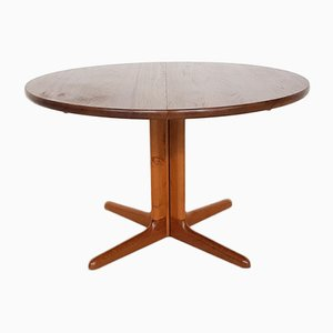 Danish Teak Extendable Round Dining Table from Skovby, 1960s