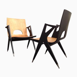 Easy Chairs from Malatesta and Mason, 1950s, Set of 2
