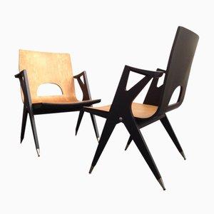 Sessel von Malatesta & Mason, 1950er, 2er Set