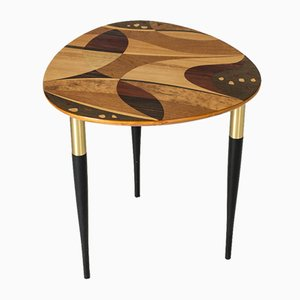 Mid-Century Swedish Side Table with Inlays, 1950s