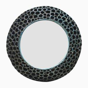 Vintage Italian Raku Ceramic Mirror