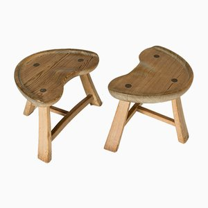 Pine Stools from Krogenäs, 1960s, Set of 2