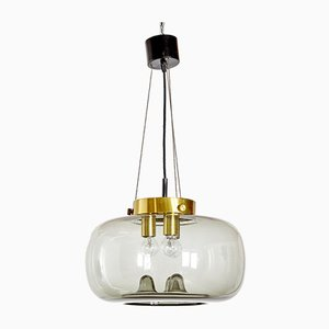 Glass Triosonate Pendant Lamp from Raak, 1960s