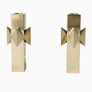 Rosett Candleholders by Pierre Forssell for Skultuna, 1960s, Set of 2