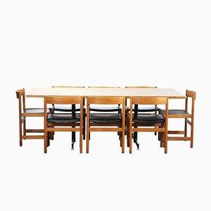 Chaises de Salon et Set de Table par Yngvar Sandstr