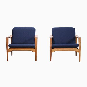 Oak Armchairs by Illum Wikkelsø for Niels Eilersen, 1950s, Set of 2