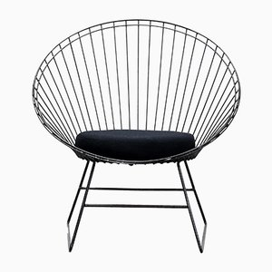Black Metal Wire Armchair by Cees Braakman for Pastoe, 1950s