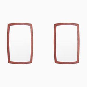 Danish Teak Mirrors, 1960s, Set of 2