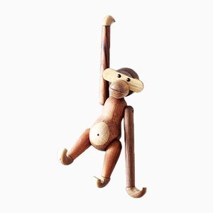 Vintage Danish Wooden Monkey by Kay Bojesen
