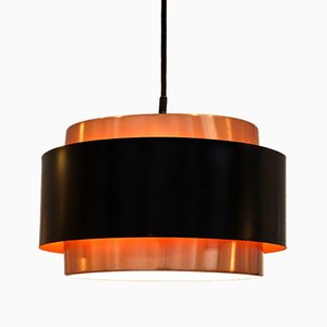 Copper Saturn Ceiling Lamp by Jo Hammerborg for Føg & Morup, 1960s