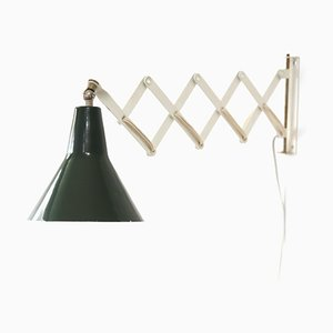 Dutch Green Wall Light from Anvia, 1950s