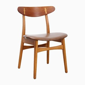 Chaises de Salon CH30 par Hans J. Wegner pour Carl Hansen, 1950s, Set de 5