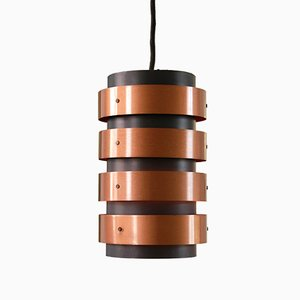 Danish Black & Copper Pendant Lamp in the Style of Jo Hammerborg for Fog & Mørup